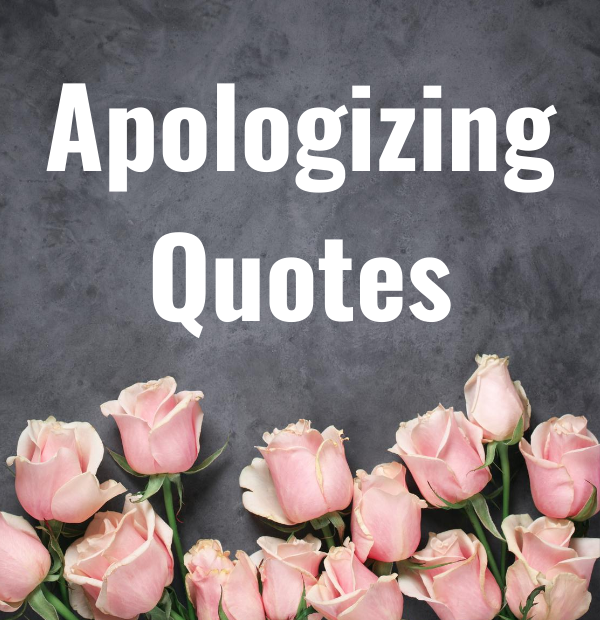 Apologizing Quotes